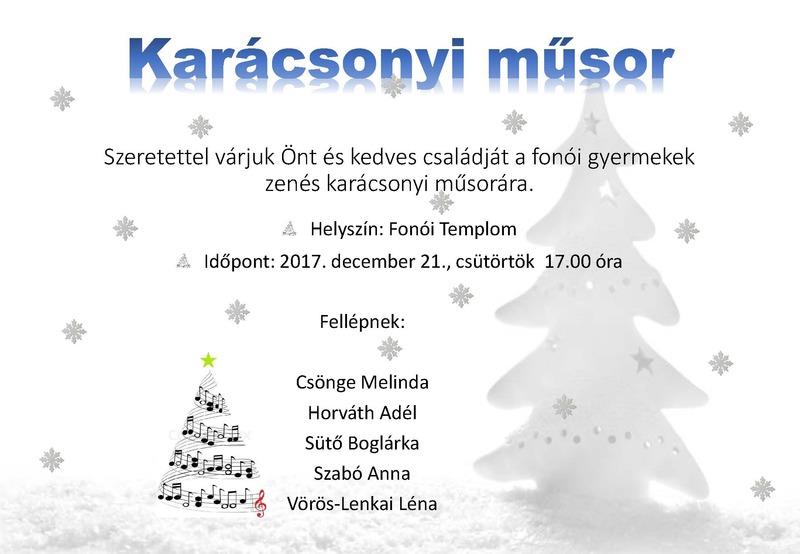 Karácsonyi műsor 2017.