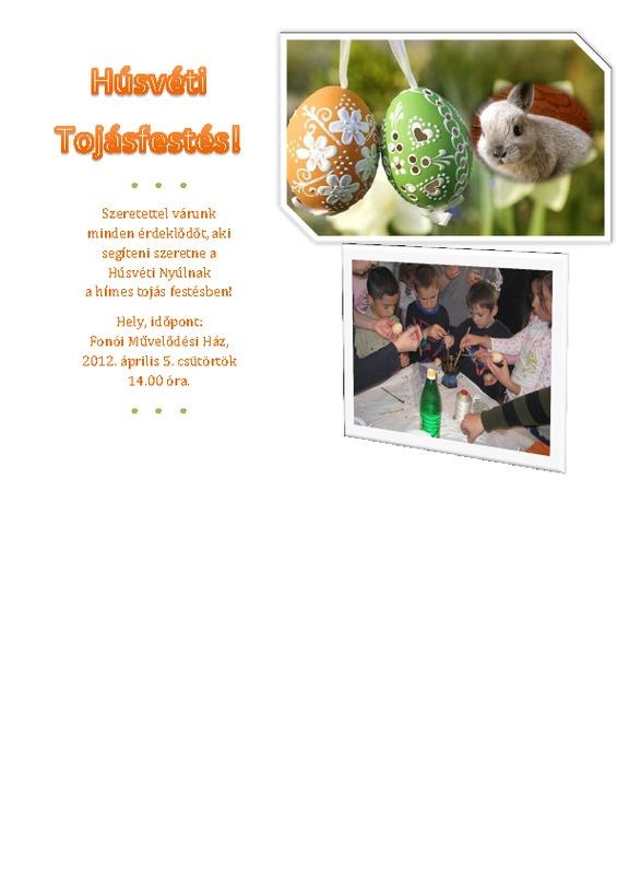 Meghívó tojásfestésre 2012
